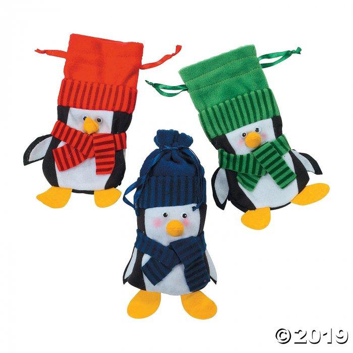 Large Penguin Drawstring Bags (Per Dozen)