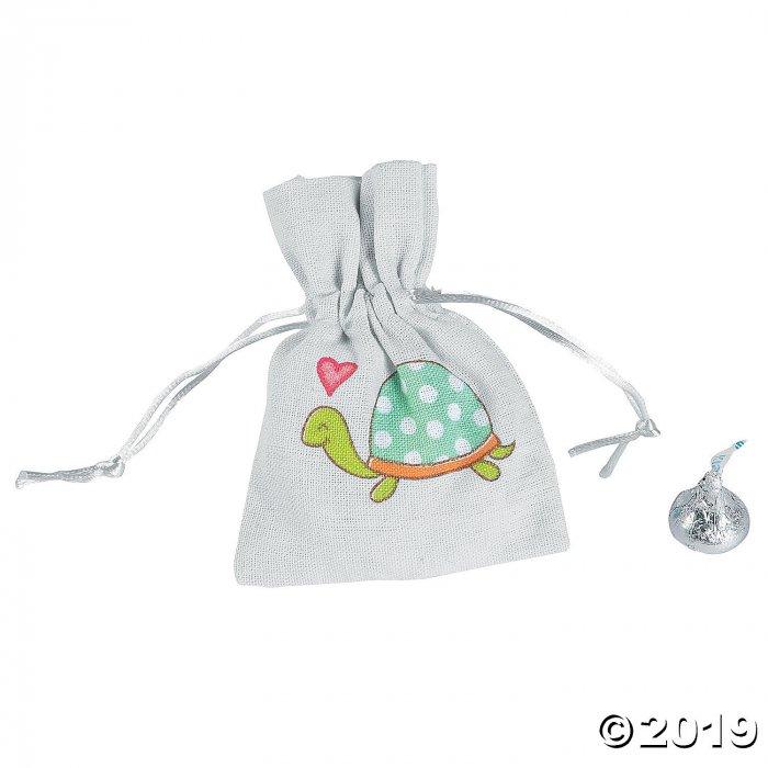 Mini Turtle Drawstring Bags (Per Dozen)