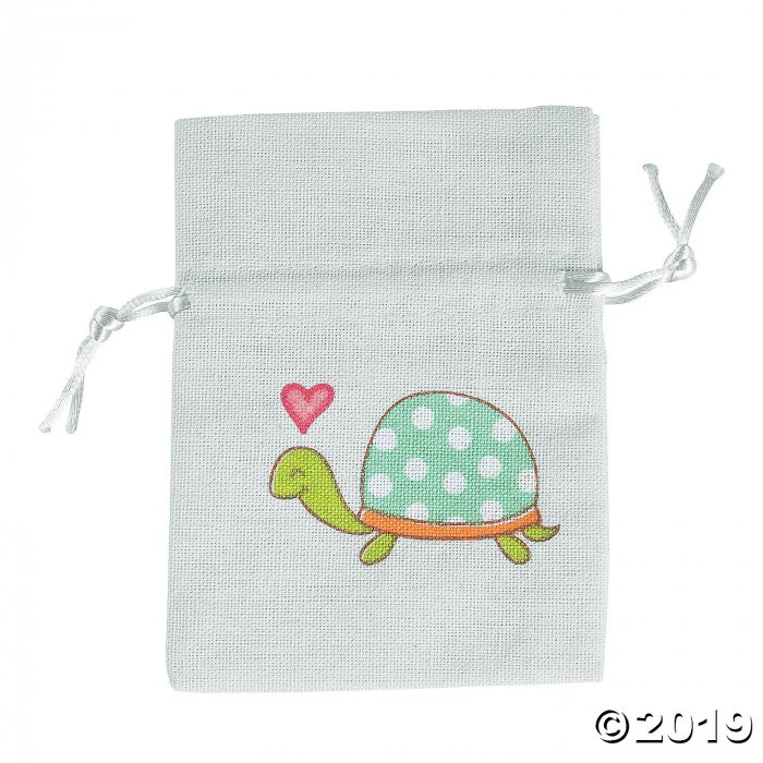 Mini Turtle Drawstring Bags (Per Dozen)