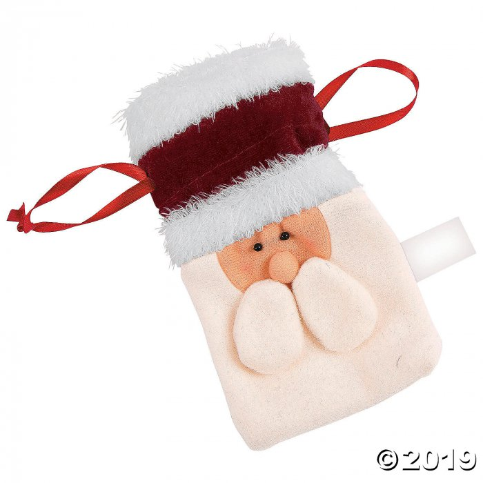 Santa Drawstring Bags (Per Dozen)