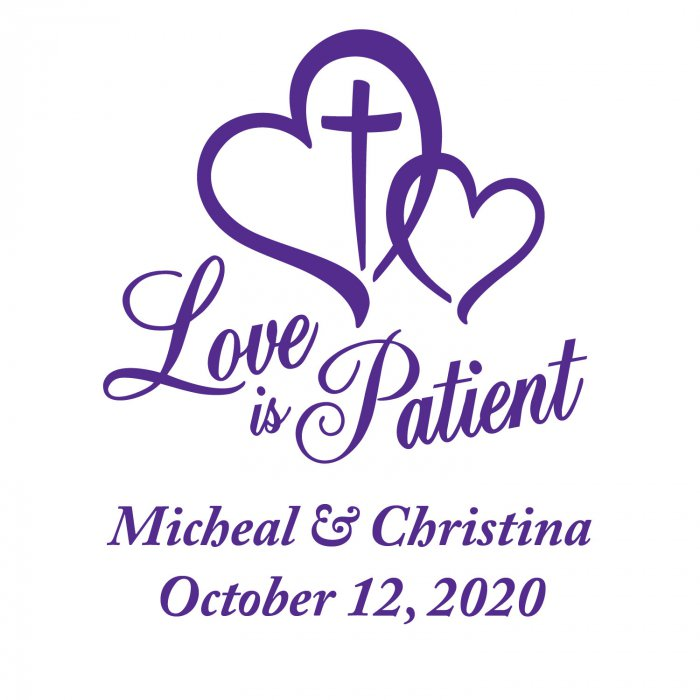 Love is Patient Wedding Personalized Stickers (144 Piece(s))