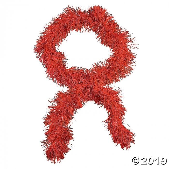 Red Fringe Boas (Per Dozen)
