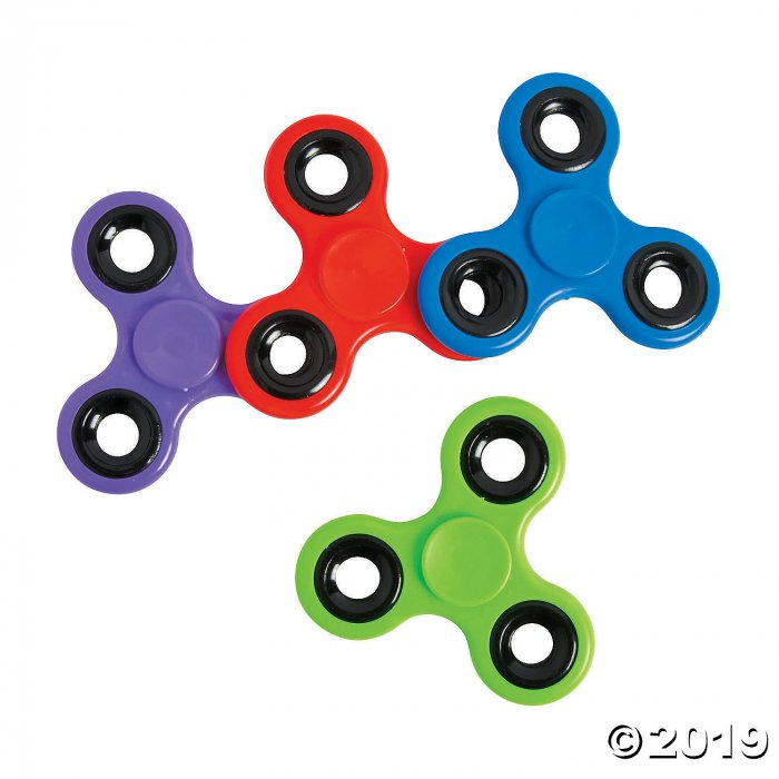 Fidget Spinners with Black Trim Assortment (Per Dozen)