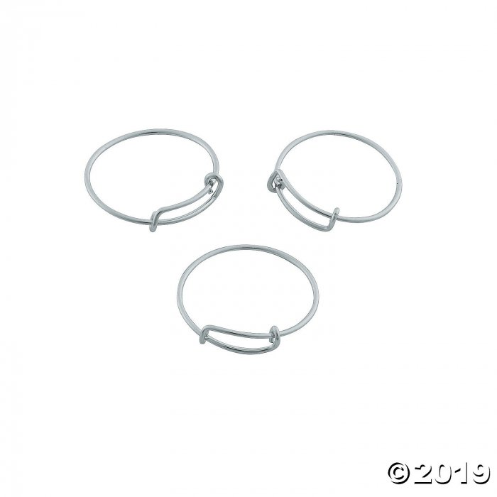 Inspiring Charms Expandable Rings - Silvertone (6 Piece(s))