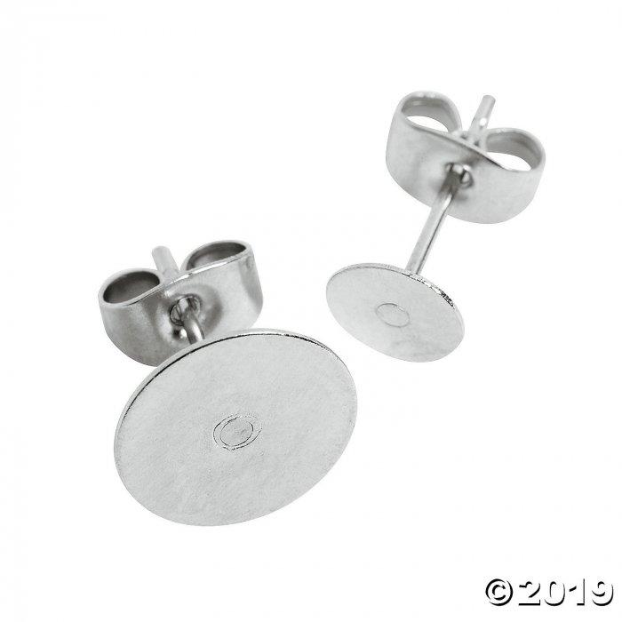 Silvertone Earring Posts (50 Piece(s))