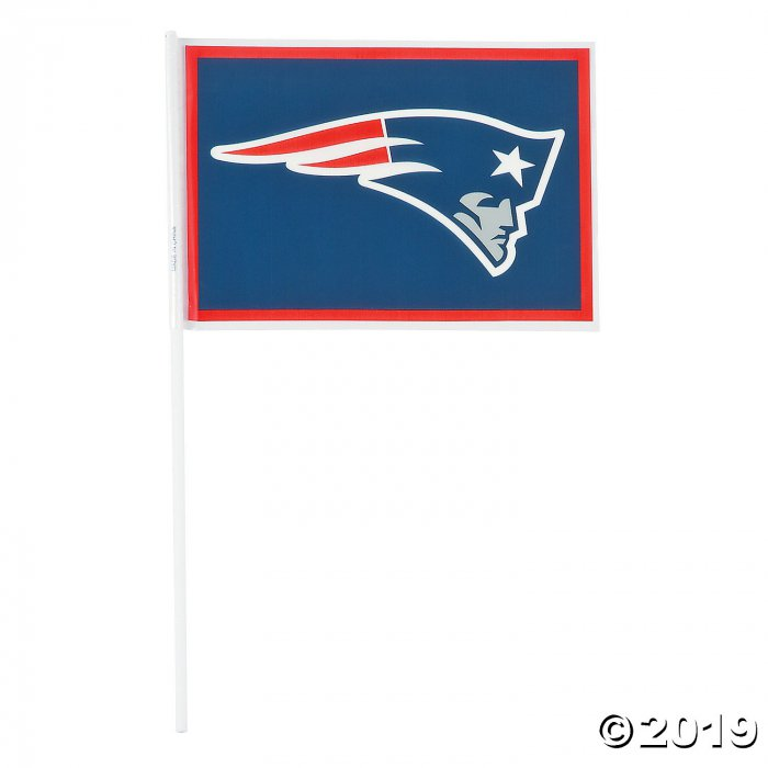 Small Plastic NFL® New England Patriots Flags (Per Dozen)