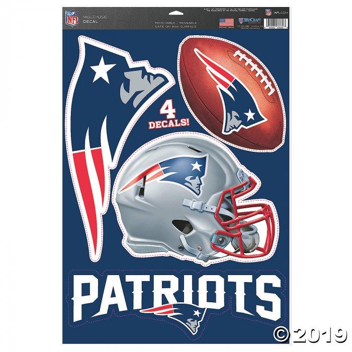 NFL New England Patriots Medium Decal Pack