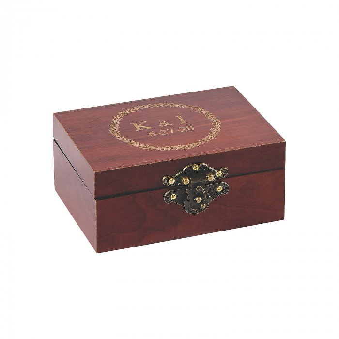 Personalized Wedding Ring Box (1 Piece(s))