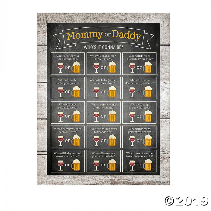 Mom or Dad Baby Shower Game (1 Set(s))