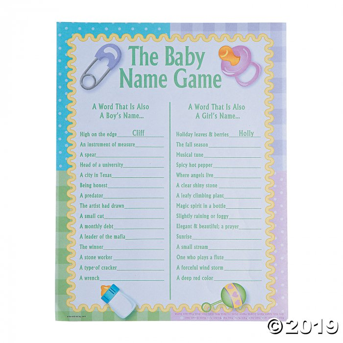 Baby Names Baby Shower Game (24 Piece(s))