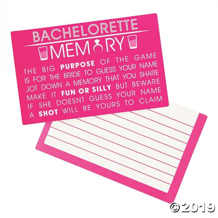Bachelorette Party Memory Game (1 Unit(s))