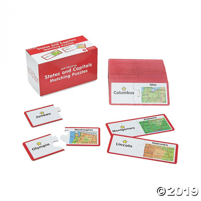 State & Capitals Matching Puzzles (1 Set(s))