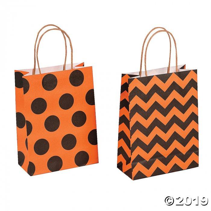 Medium Halloween Pattern Kraft Paper Gift Bags (Per Dozen)