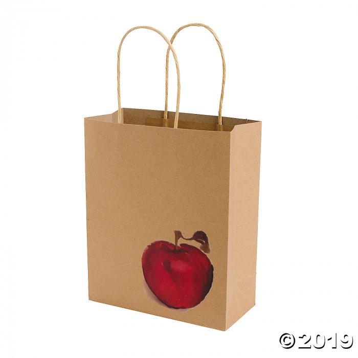 Medium Fall Festival Apple Kraft Paper Gift Bags (Per Dozen)