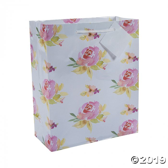 Medium Garden Party Gift Bags with Tags (Per Dozen)