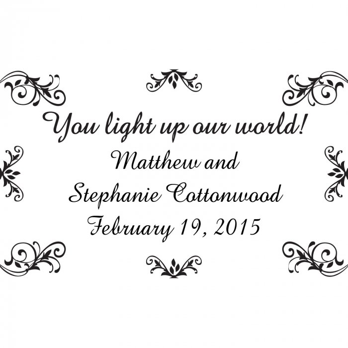 Personalized Wedding Glow Sticks (Per Dozen)