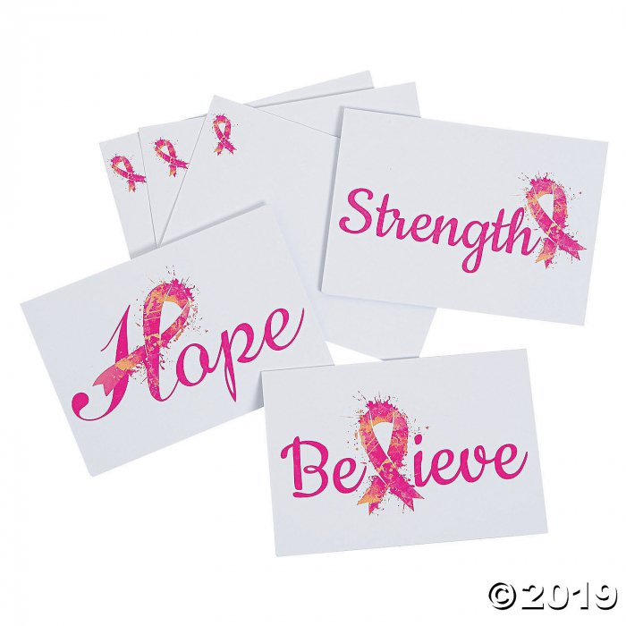 Breast Cancer Awareness Notecards with Envelopes (Per Dozen)