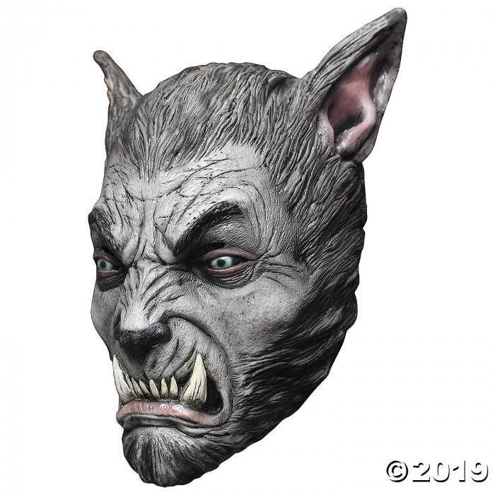 Adult's Silver Wolf Beast Mask (1 Piece(s))