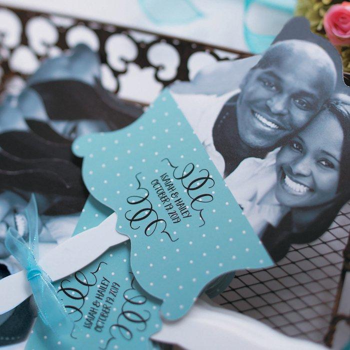 Custom Photo Wedding Hand Fans (Per Dozen)