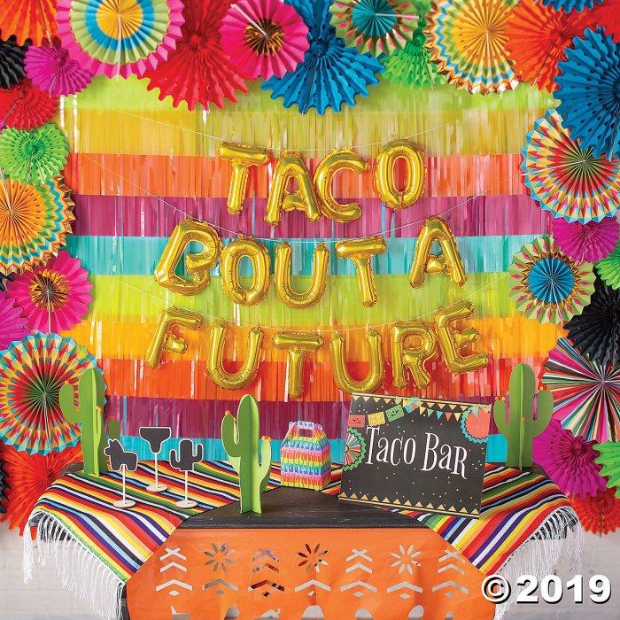 Fiesta Hanging Paper Fan Decorations (1 Set(s))