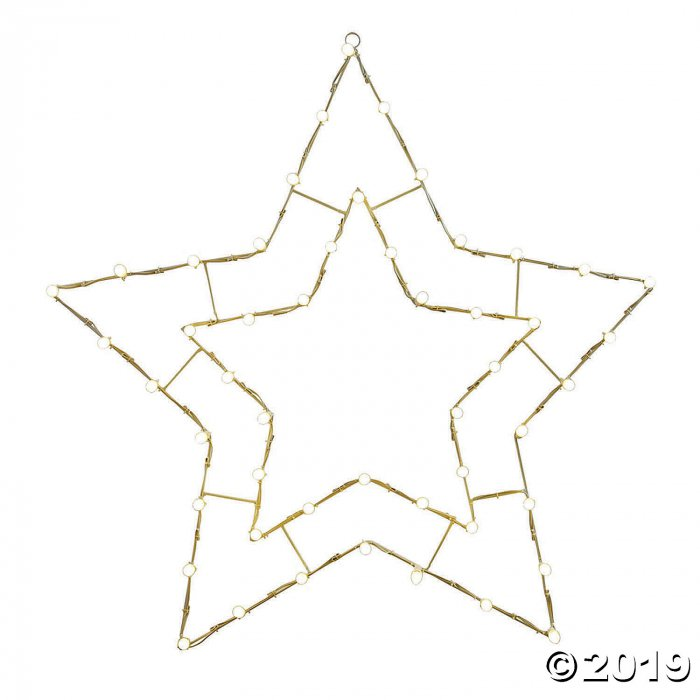 "Vickerman 48"" White LED 5 Point Star Wire Silhouette (1 Piece(s))"
