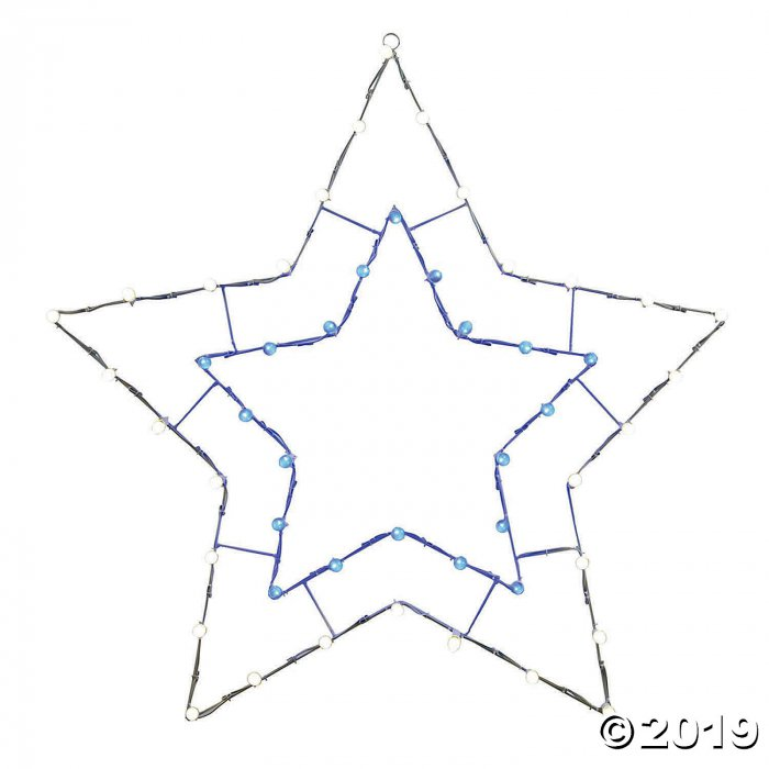 "Vickerman 48"" Blue-White LED 5 Point Star Wire Silhouette (1 Piece(s))"