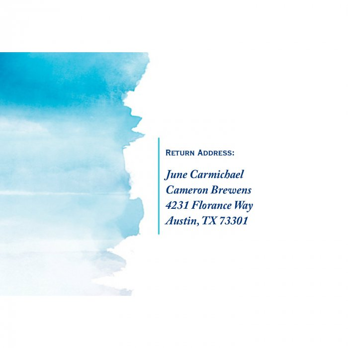 Personalized Blue Watercolor RSVP Cards (25 Piece(s))