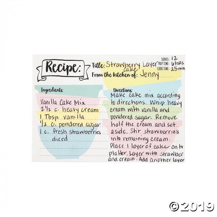 Bridal Shower Recipe Cards (24 Piece(s))