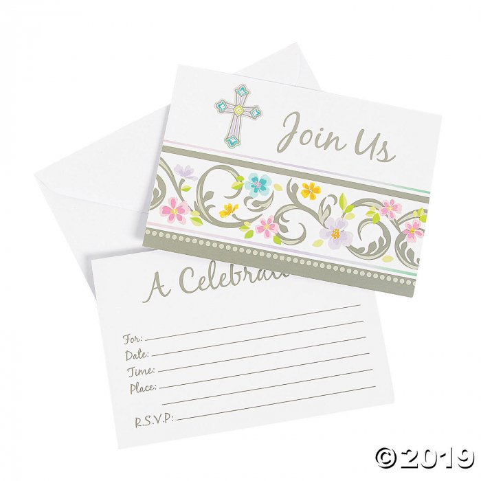 Blessed Day Invitation & Thank You Cards (16 Piece(s))