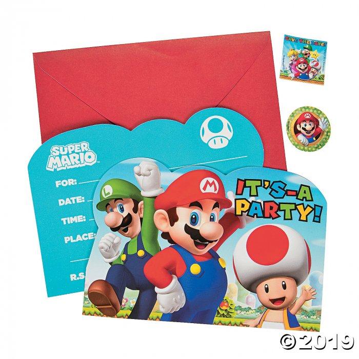 Super Mario™ Invitations (8 Piece(s))