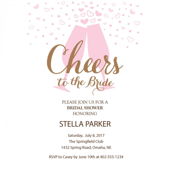 Personalized Cheers Bridal Shower Invitations (10 Piece(s))
