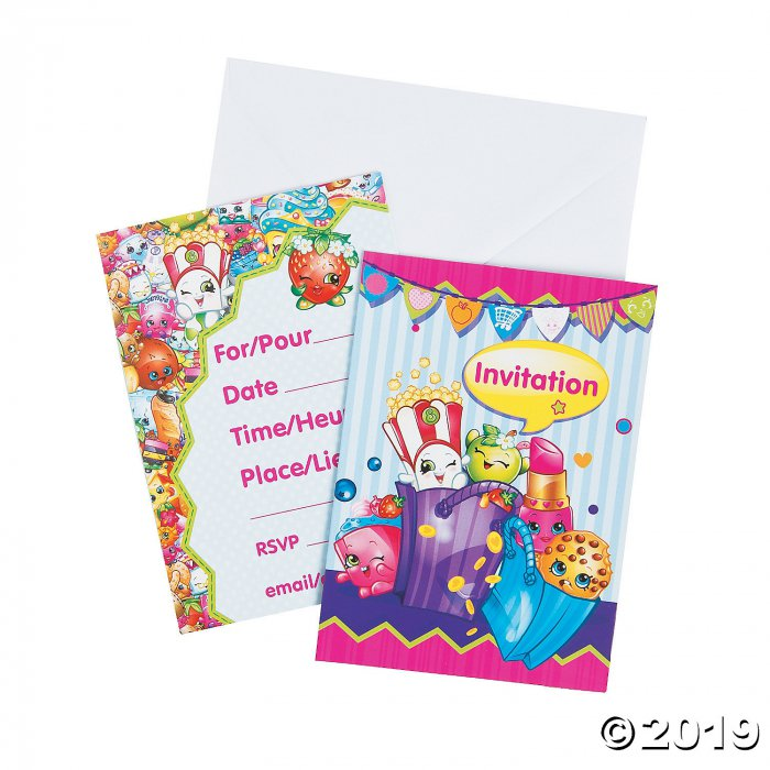 Shopkins™ Invitations (8 Piece(s))