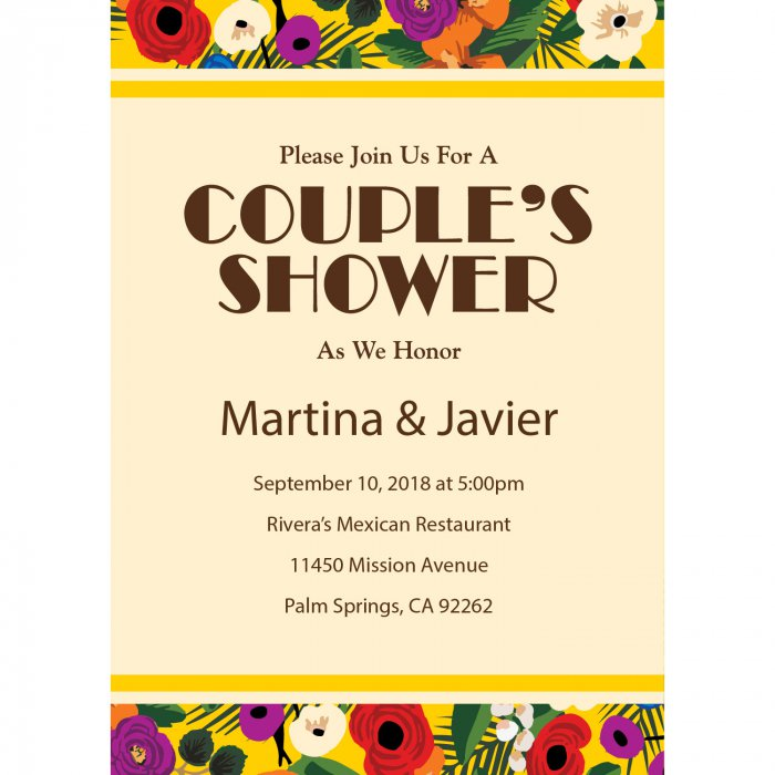Personalized Cuban Wedding Shower Invitations (10 Piece(s))