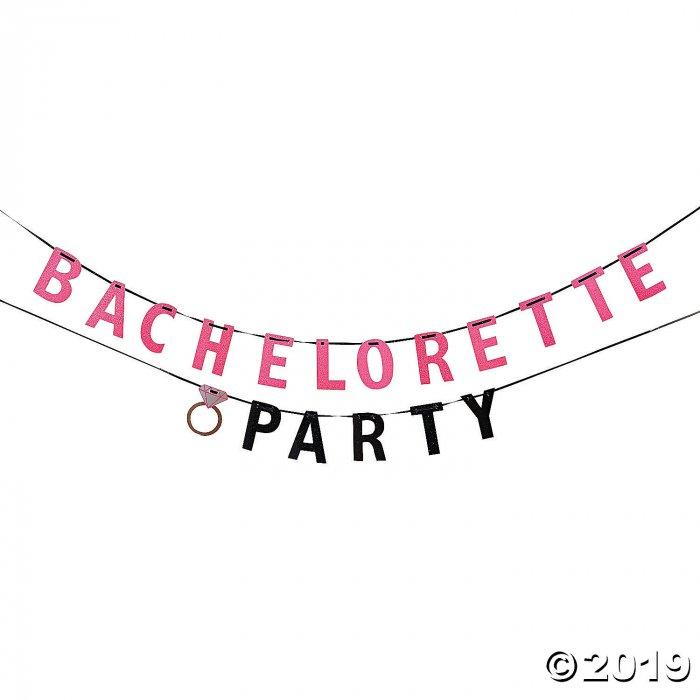 Bachelorette Party Glitter Paper Banner (1 Piece(s))