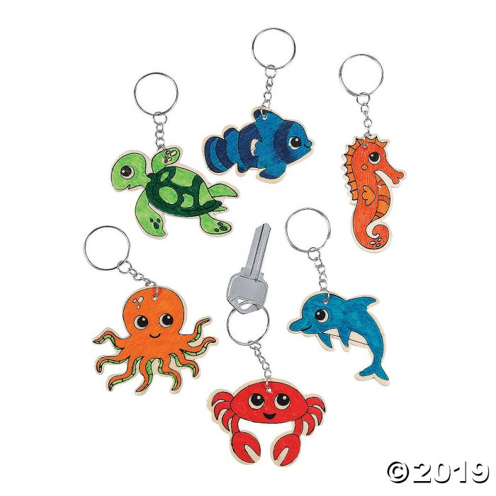 Color Your Own Sea Life Keychains (Per Dozen)