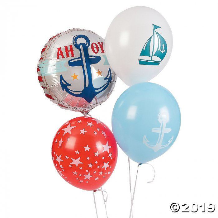 "Nautical Baby Shower 11"" Balloon Assortment (1 Set(s))"