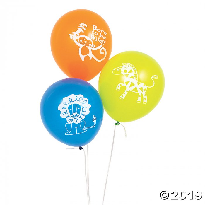 """Jungle Baby Shower 11"""" Latex Balloons (24 Piece(s))"""