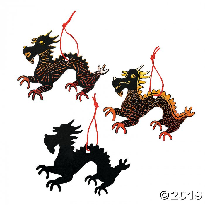 Magic Color Scratch Chinese New Year Dragons (Makes 24)
