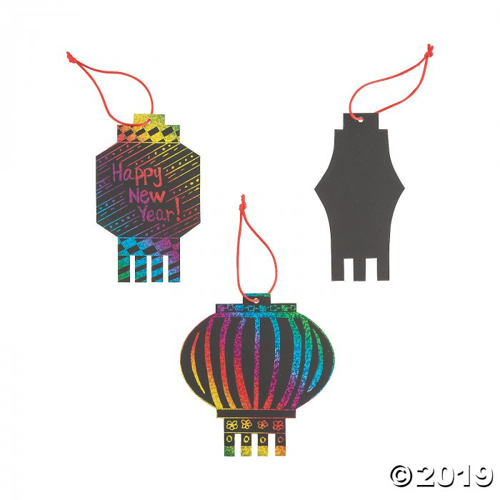 Magic Color Scratch Chinese New Year Lanterns (24 Piece(s))