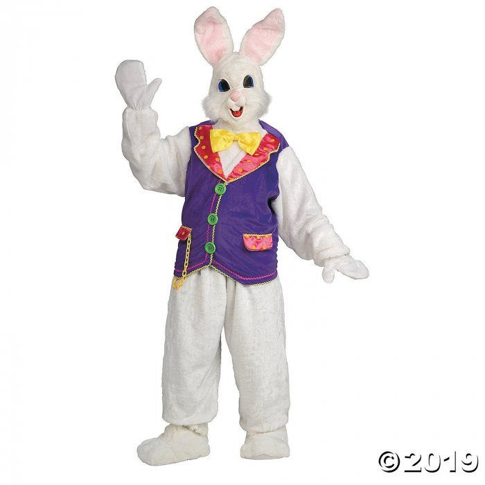 Adult's Deluxe Bunny Mascot Costume With Vest - Standard (1 Piece(s))