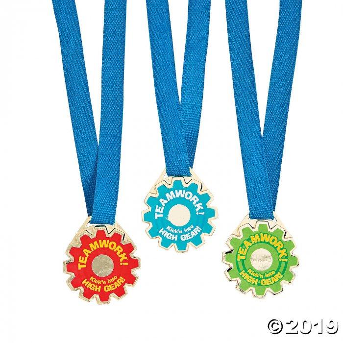 Teamwork Gear-Shaped Award Medals (Per Dozen)