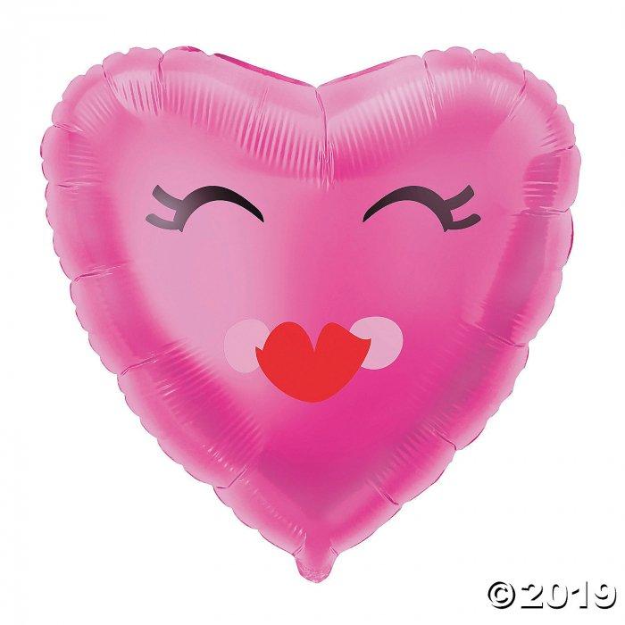 Valentine's Day Smiling Heart Mylar Balloon (1 Piece(s))