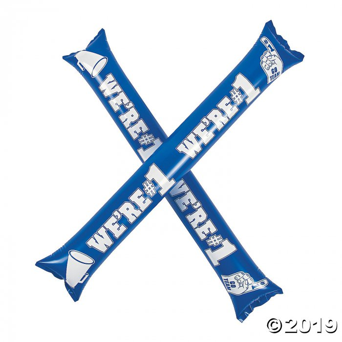 Inflatable Blue Team Spirit Boom Sticks (24 Piece(s))