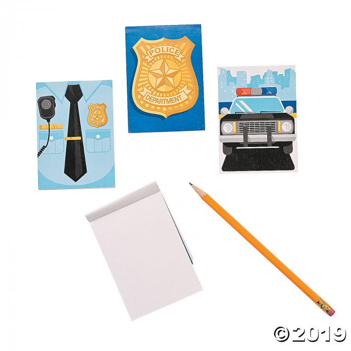 Police Party Notepads (Per Dozen)