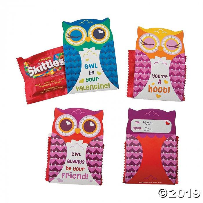 Valentine Owl Skittles® Valentine Card Kit (28 Piece(s))