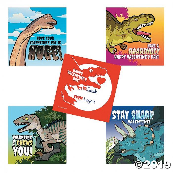 Dinosaur Valentine's Day Sticker Sheets (8 Piece(s))