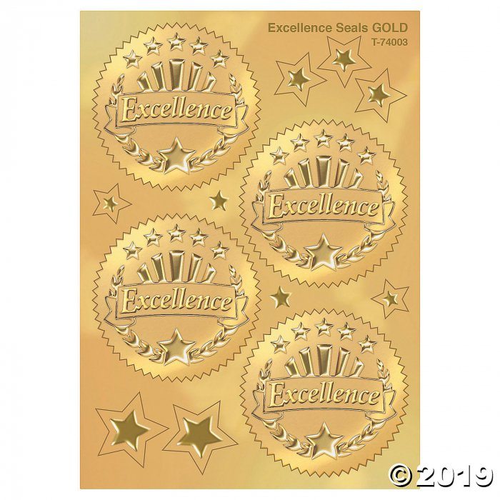 (6 Pk) Award Seal Excellence Gold (6 Piece(s))