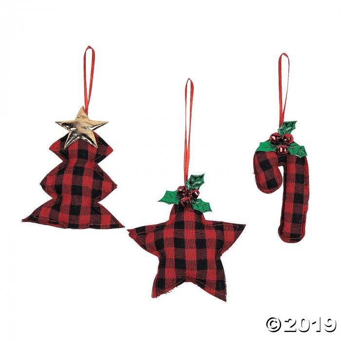 Buffalo Plaid Ornaments (Per Dozen)