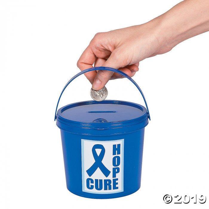 Blue Awareness Ribbon Donation Buckets (Per Dozen)