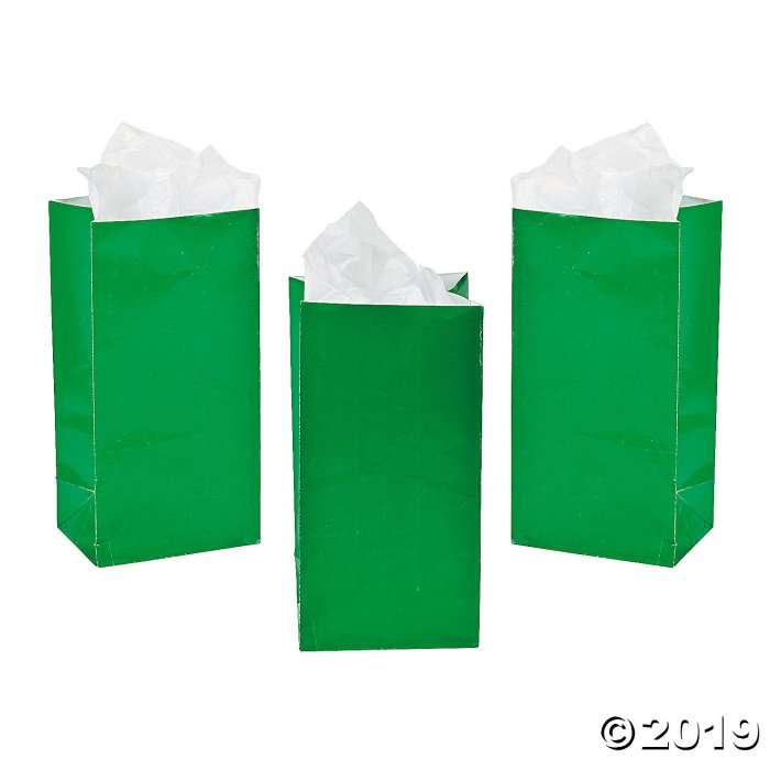 Mini Green Treat Bags (24 Piece(s))